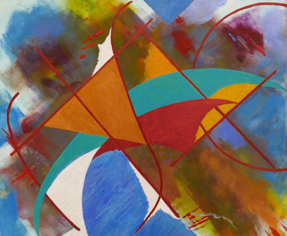Golden Triangle, acrylic,60x50