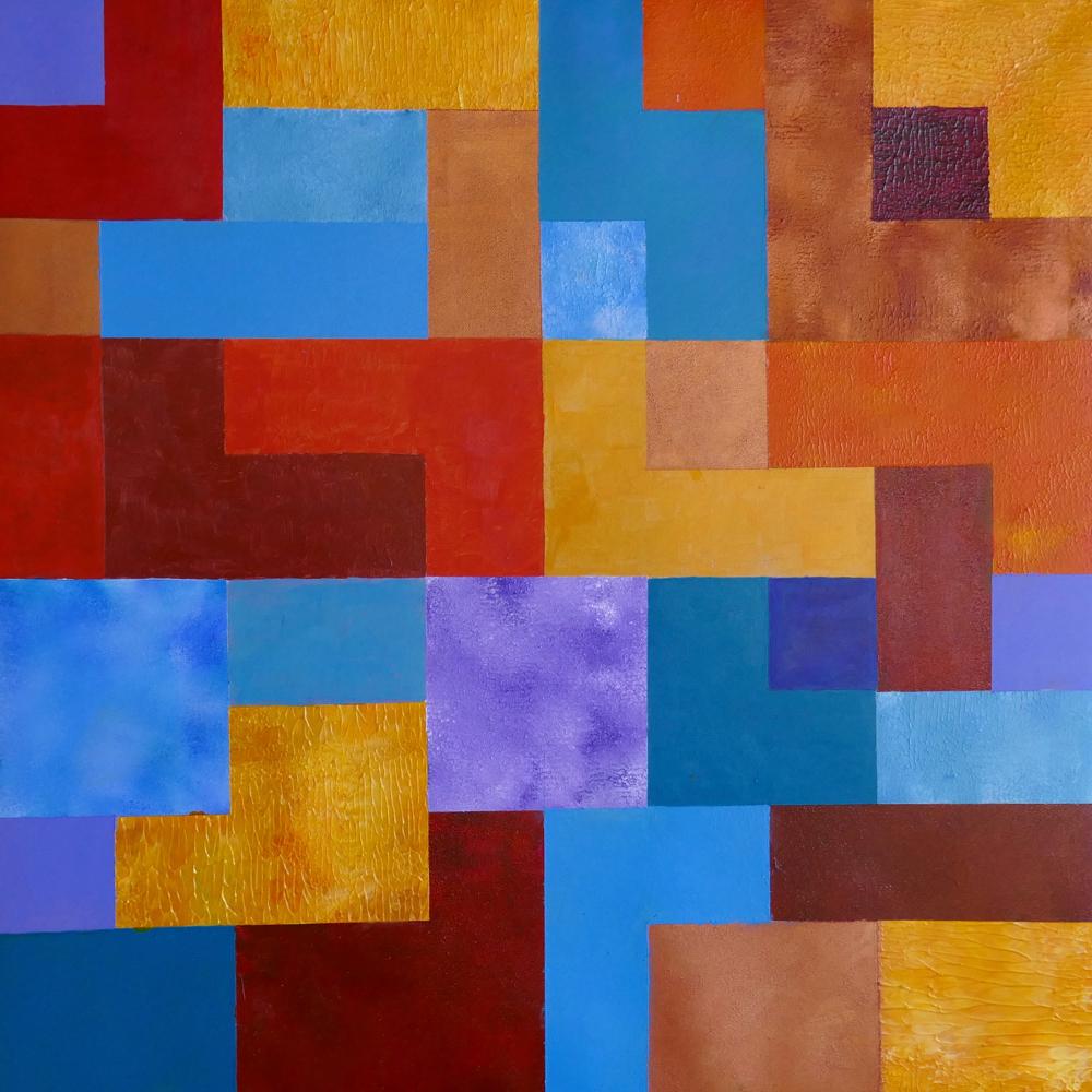 Mosaic, acrylic, 50x50